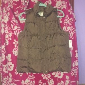 Old Navy Brown Puffer Vest